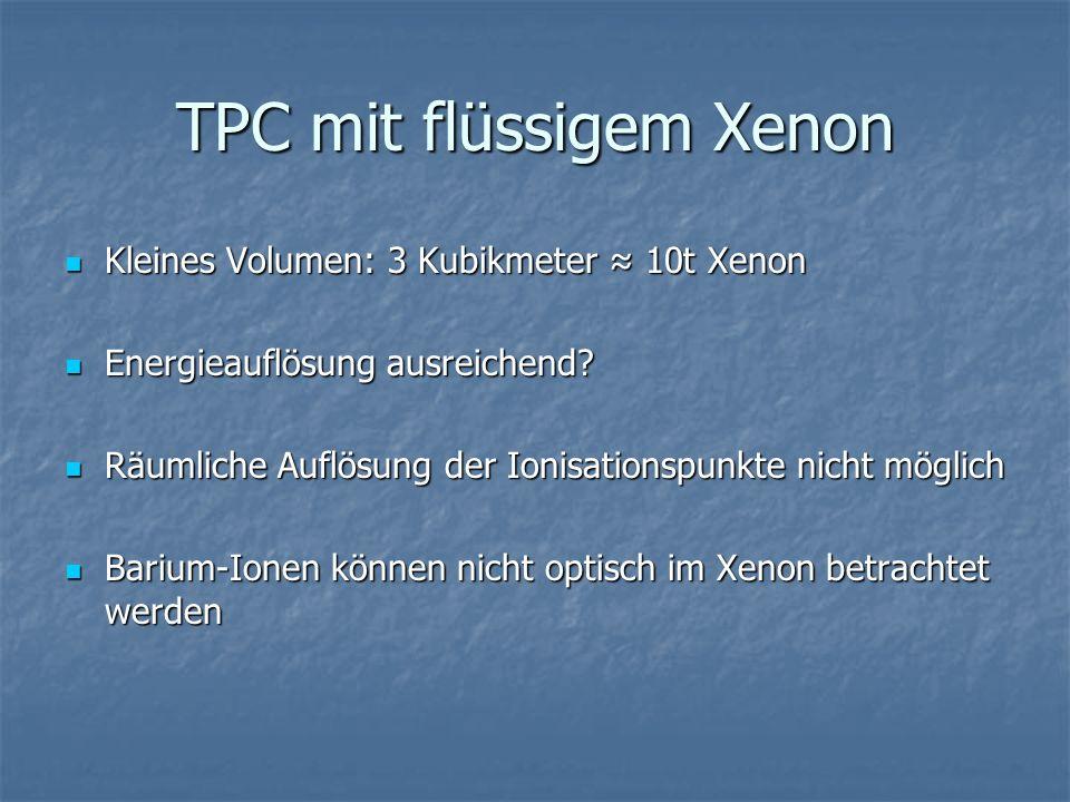TPC mit flüssigem Xenon