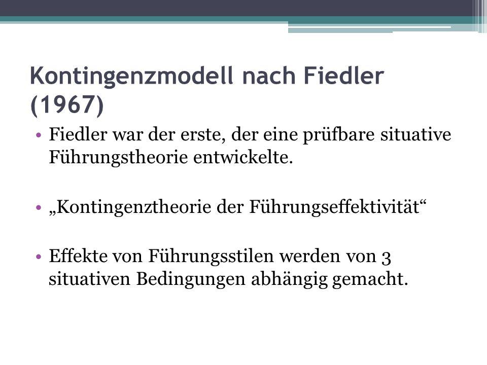 Kontingenzmodell nach Fiedler (1967)
