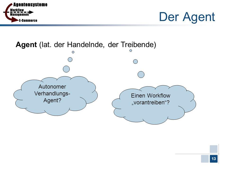 Der Agent Agent (lat. der Handelnde, der Treibende)