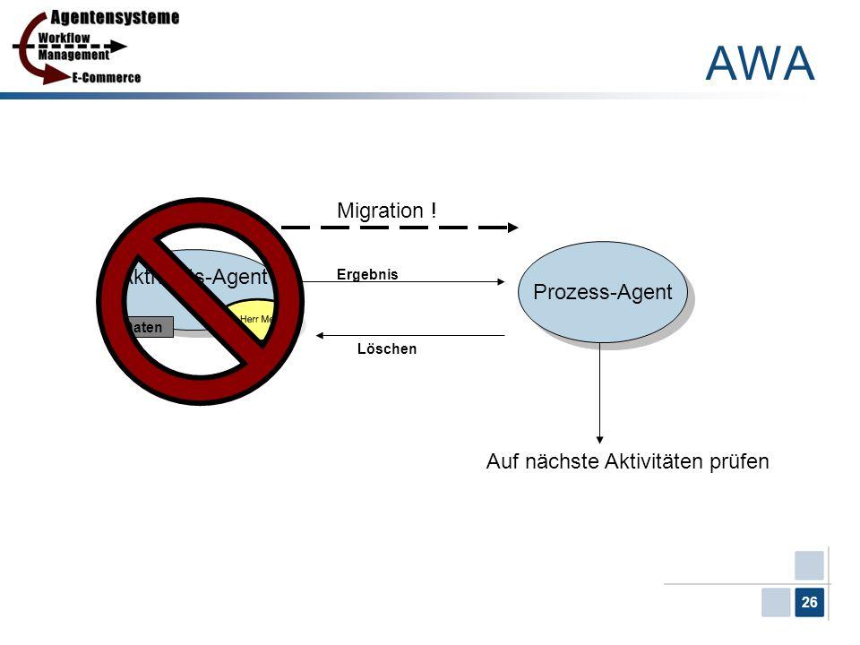 AWA Migration ! Aktivitäts-Agent Prozess-Agent 1