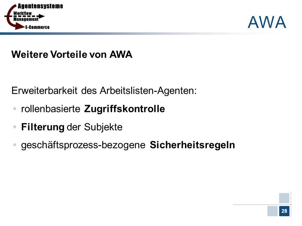 AWA Weitere Vorteile von AWA
