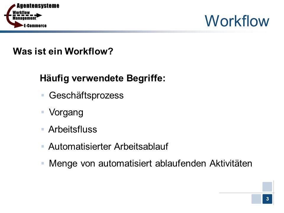 Workflow Was ist ein Workflow Häufig verwendete Begriffe: