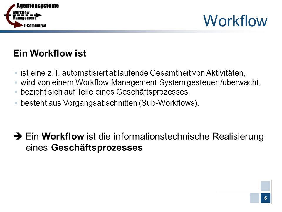 Workflow Ein Workflow ist
