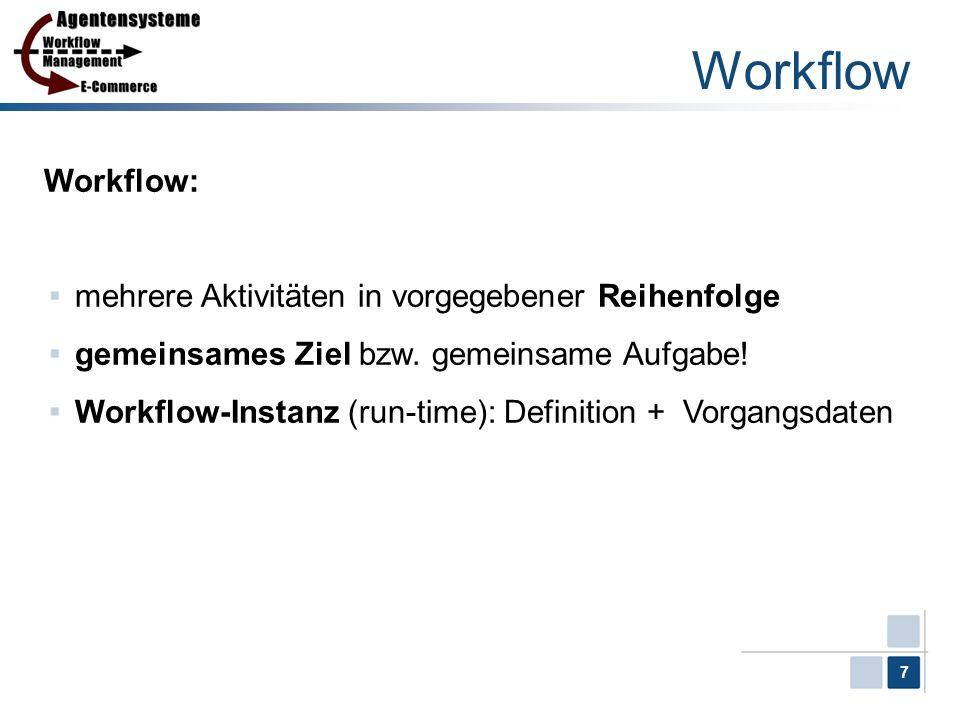 Workflow Workflow: mehrere Aktivitäten in vorgegebener Reihenfolge
