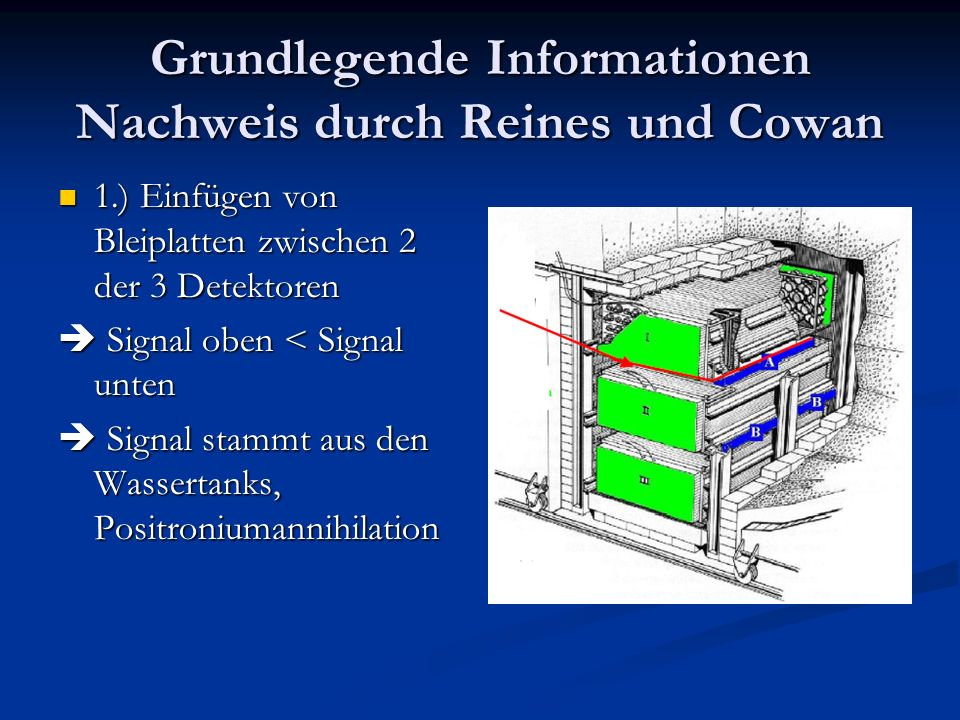 Grundlegende Informationen Nachweis durch Reines und Cowan