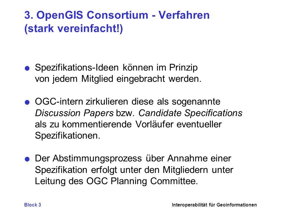 3. OpenGIS Consortium - Verfahren (stark vereinfacht!)
