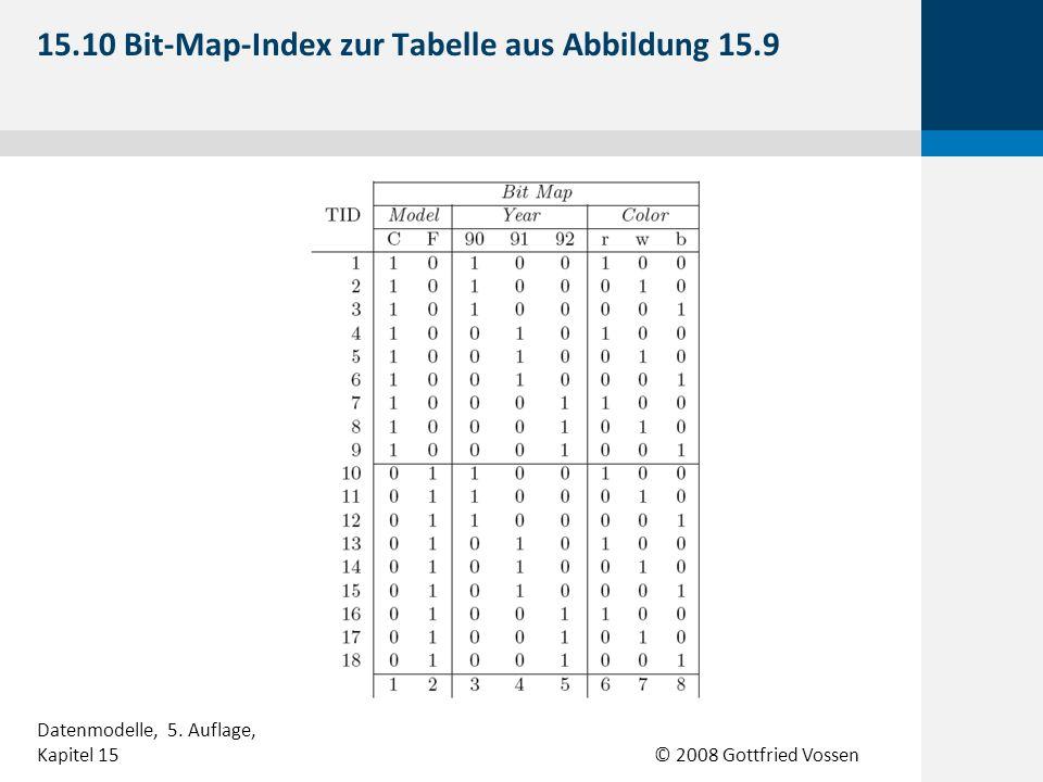 15.10 Bit-Map-Index zur Tabelle aus Abbildung 15.9
