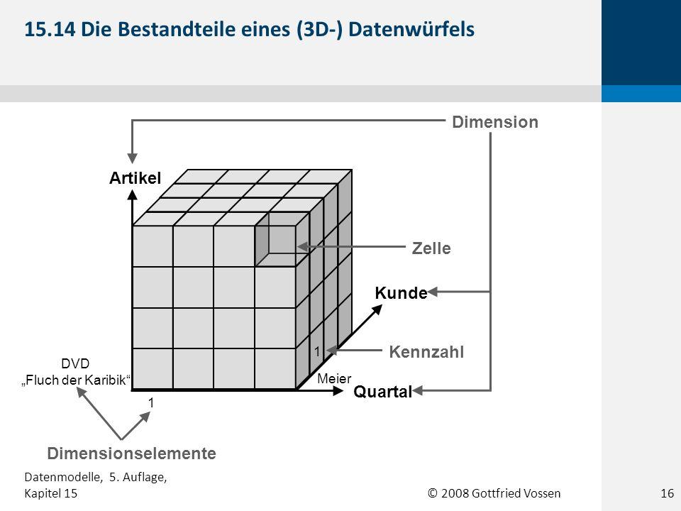 15.14 Die Bestandteile eines (3D-) Datenwürfels