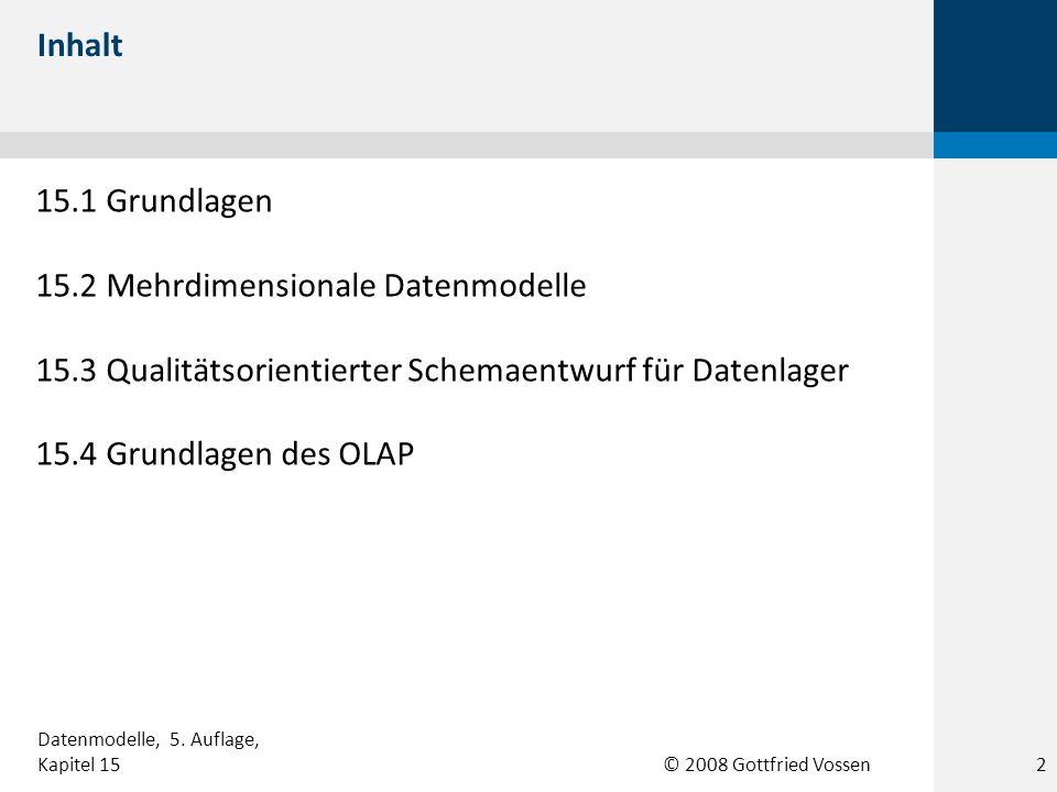 15.2 Mehrdimensionale Datenmodelle