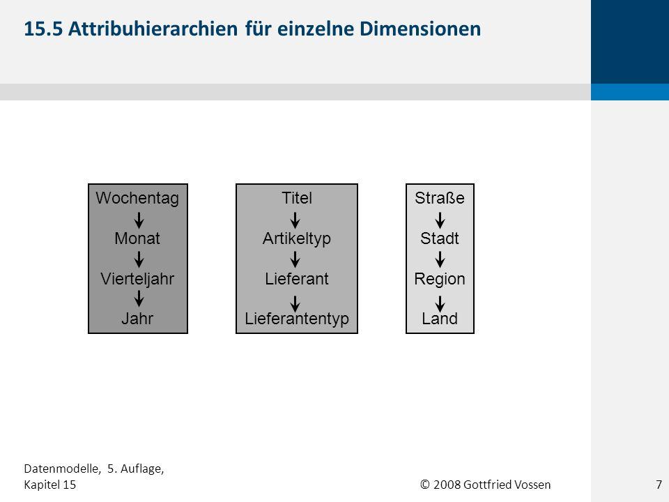 15.5 Attribuhierarchien für einzelne Dimensionen