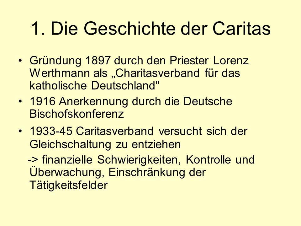 1. Die Geschichte der Caritas