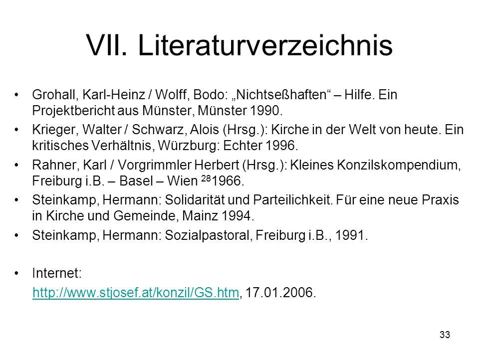 VII. Literaturverzeichnis