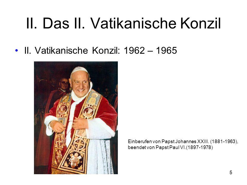 II. Das II. Vatikanische Konzil