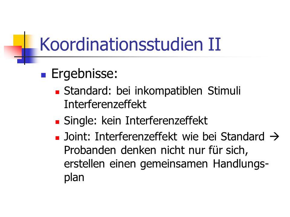 Koordinationsstudien II
