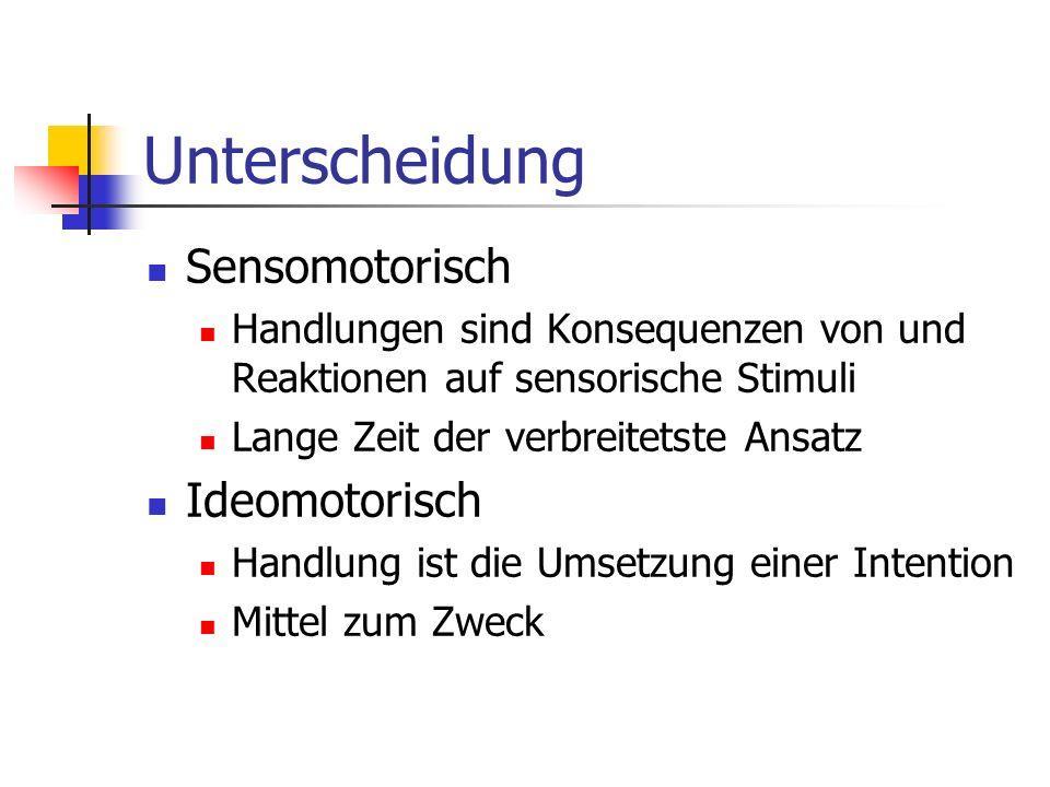 Unterscheidung Sensomotorisch Ideomotorisch