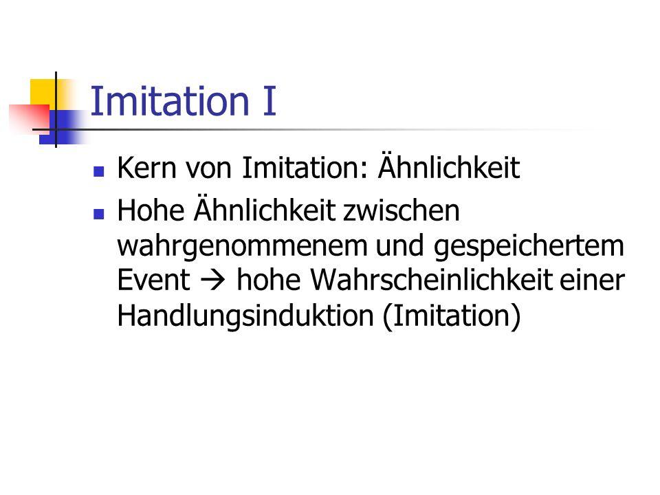Imitation I Kern von Imitation: Ähnlichkeit