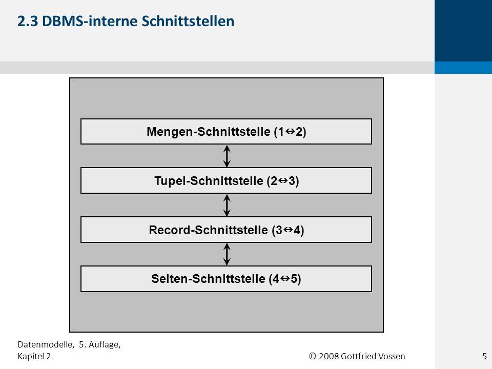 2.3 DBMS-interne Schnittstellen