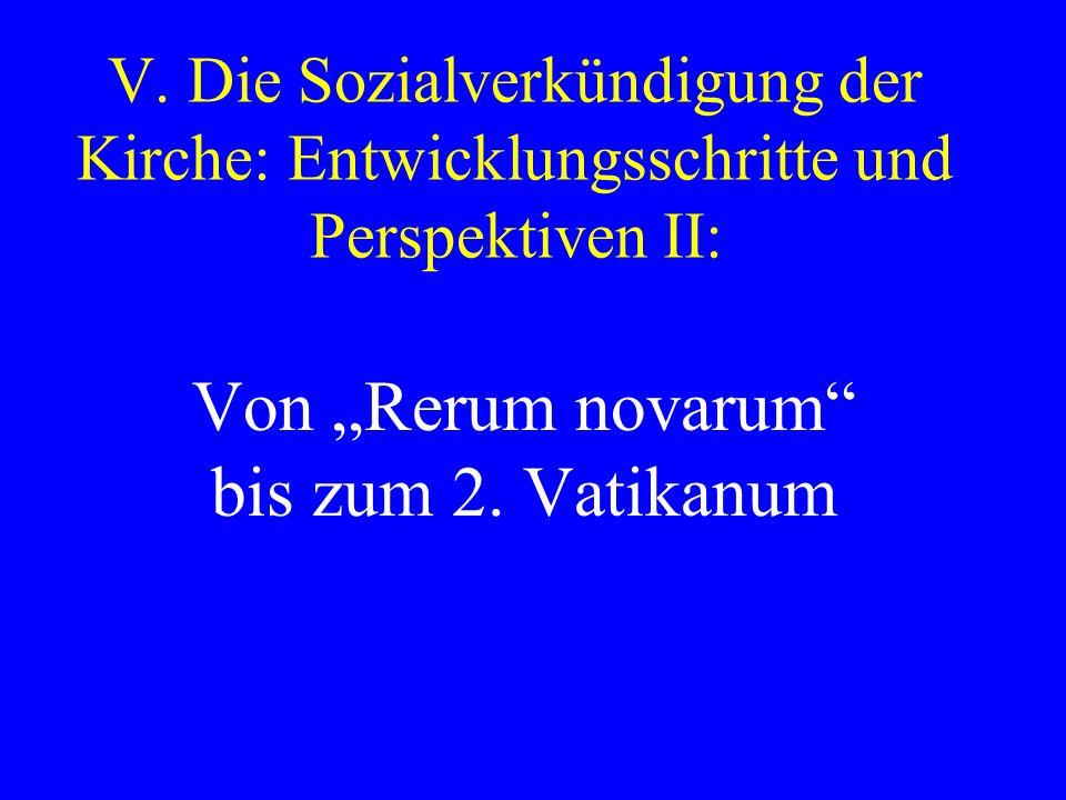 """Von """"Rerum novarum bis zum 2. Vatikanum"""