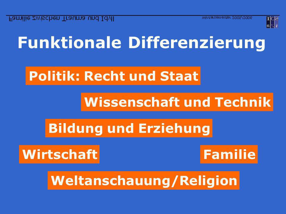 Funktionale Differenzierung