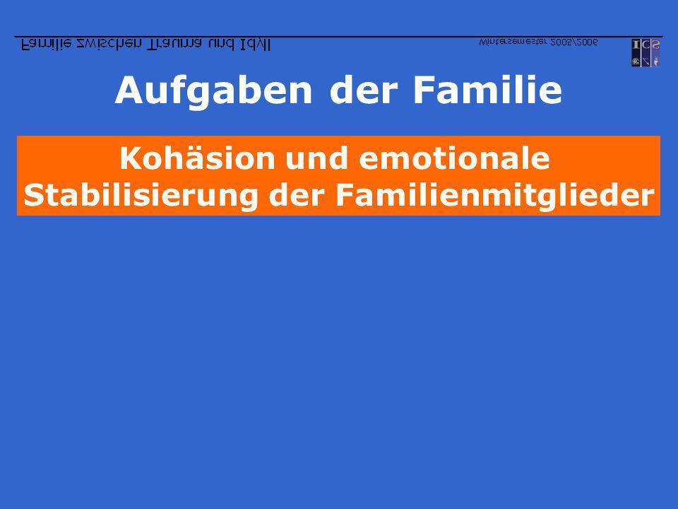 Kohäsion und emotionale Stabilisierung der Familienmitglieder