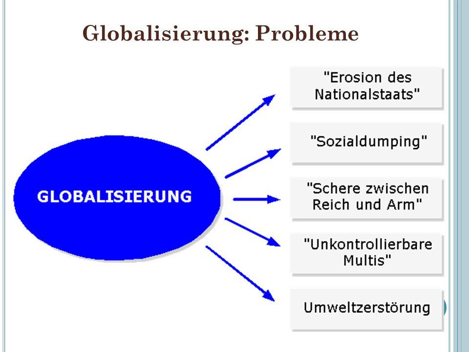 Globalisierung: Probleme