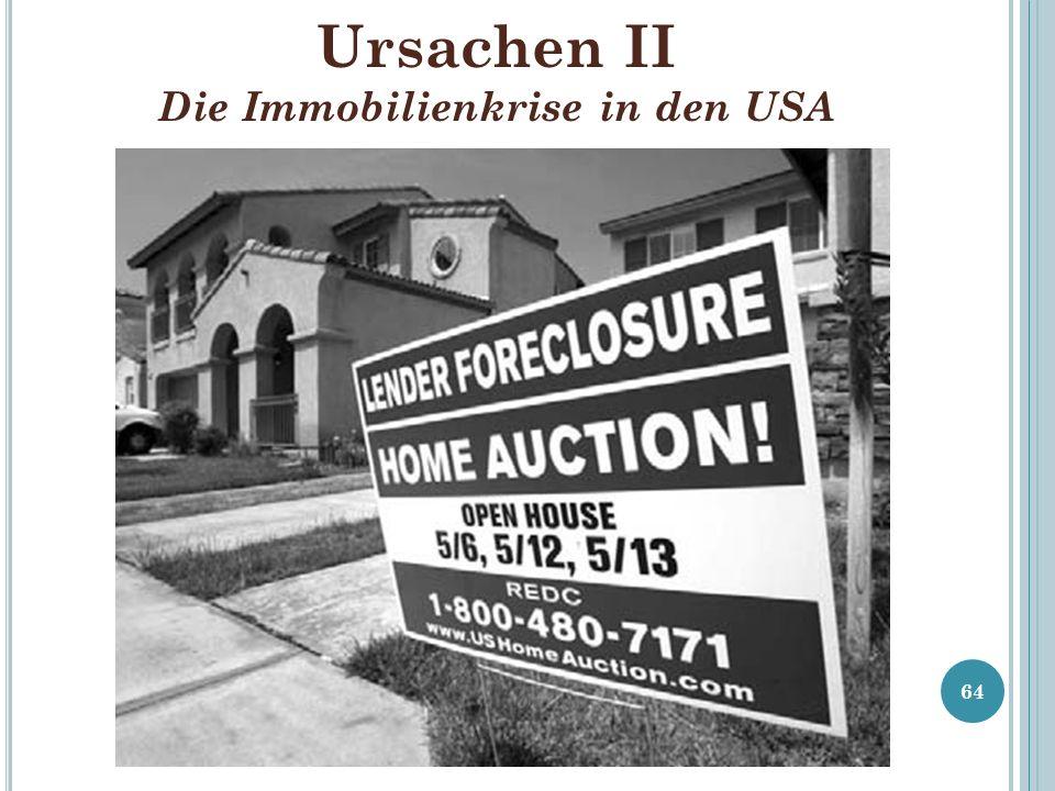Ursachen II Die Immobilienkrise in den USA