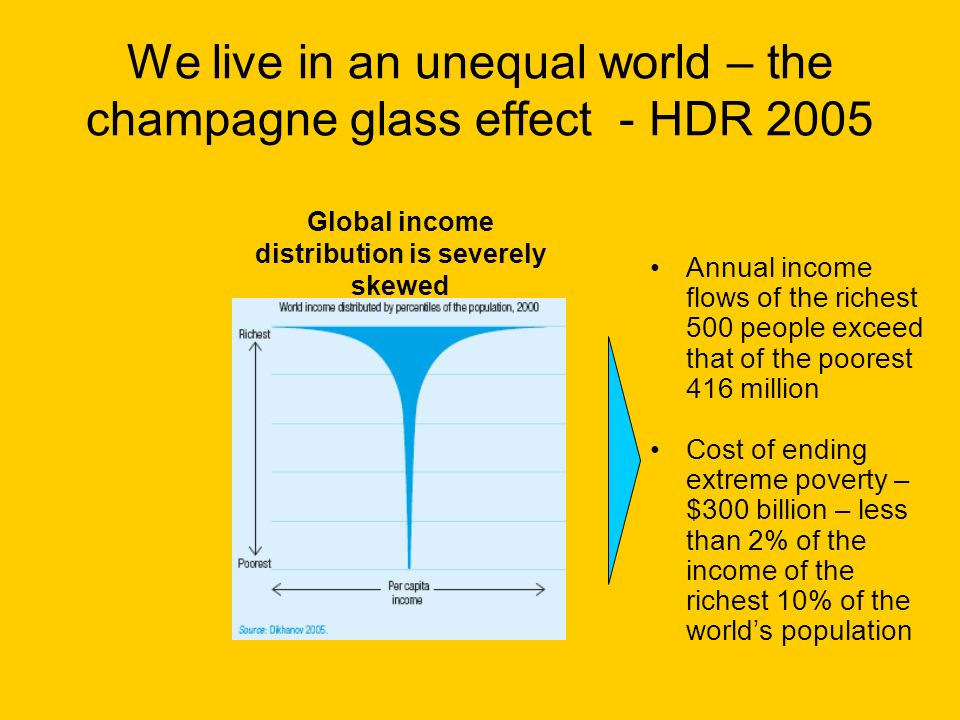 We live in an unequal world – the champagne glass effect - HDR 2005