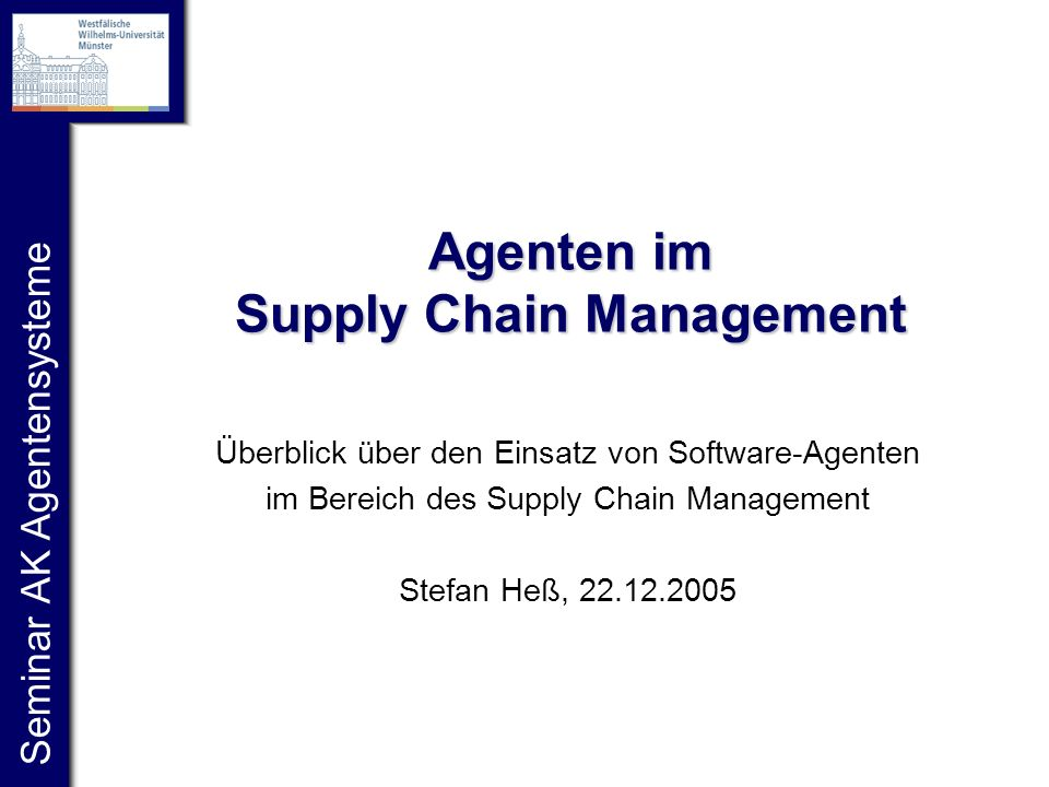Agenten im Supply Chain Management