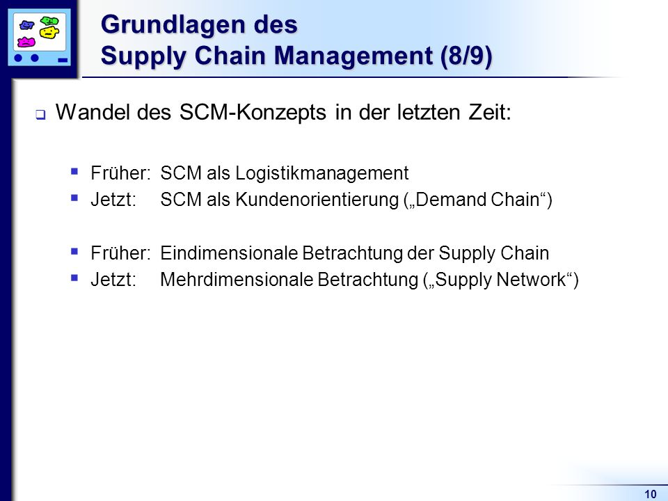 Grundlagen des Supply Chain Management (8/9)