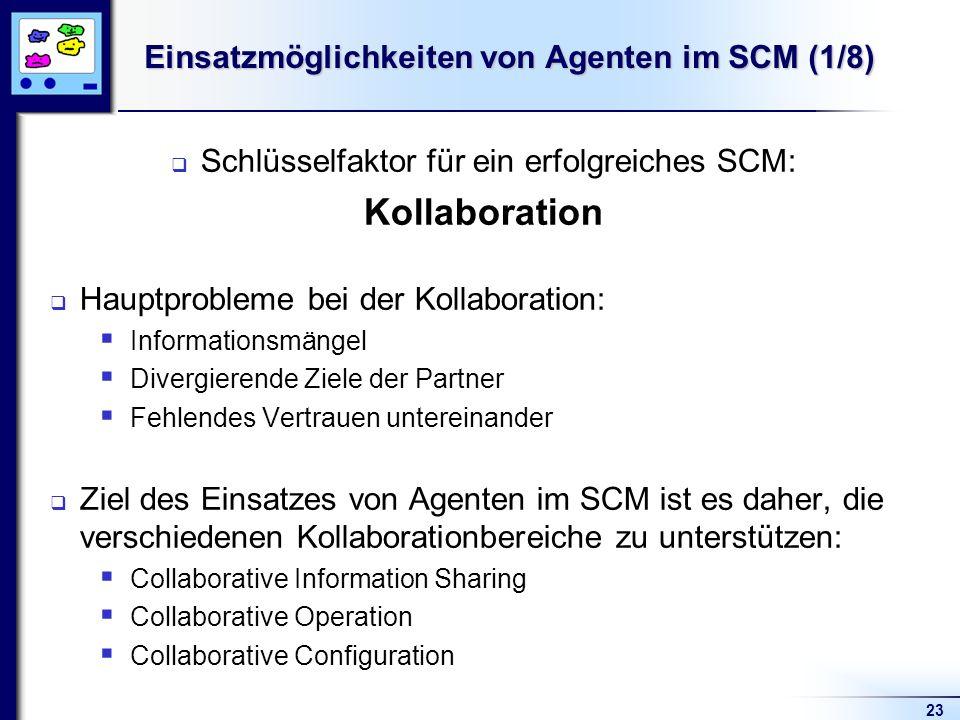 Einsatzmöglichkeiten von Agenten im SCM (1/8)