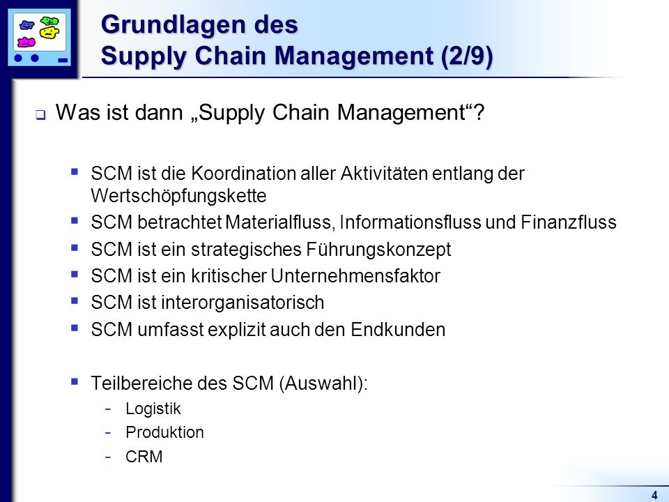Grundlagen des Supply Chain Management (2/9)