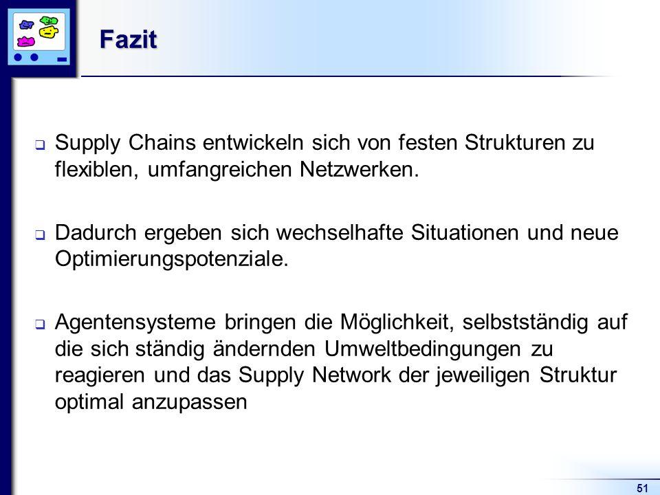 Fazit Supply Chains entwickeln sich von festen Strukturen zu flexiblen, umfangreichen Netzwerken.