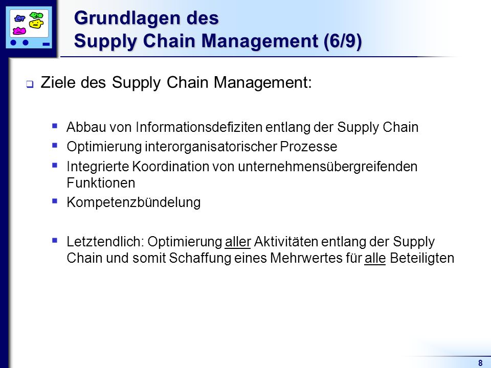Grundlagen des Supply Chain Management (6/9)