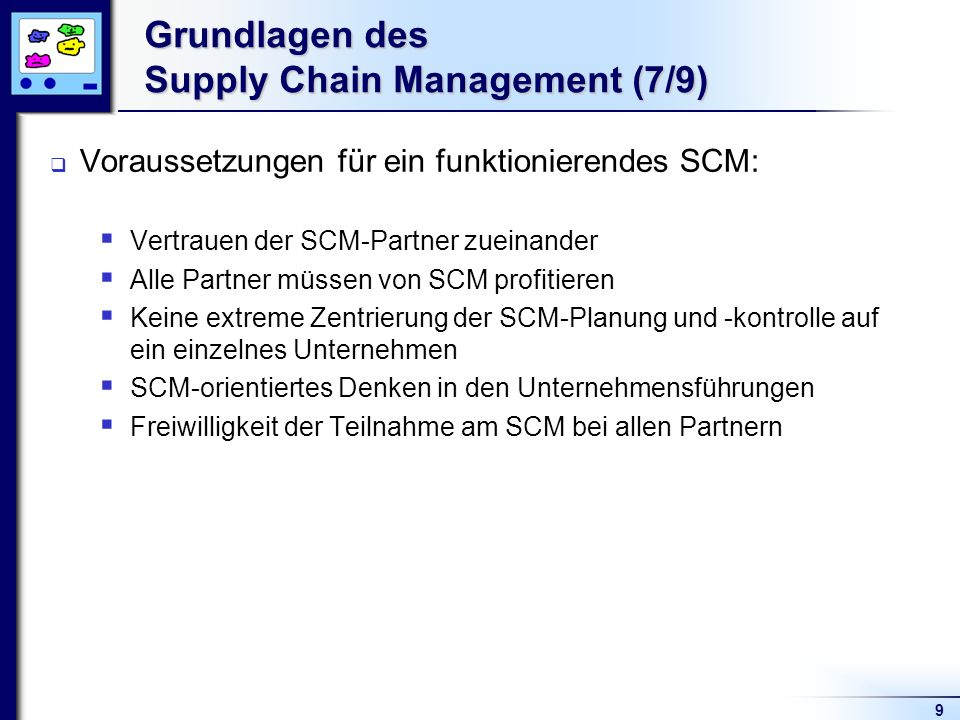 Grundlagen des Supply Chain Management (7/9)