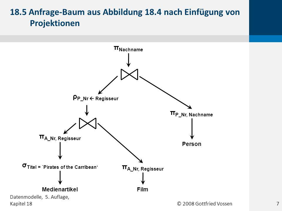 18.5 Anfrage-Baum aus Abbildung 18.4 nach Einfügung von Projektionen