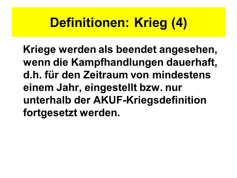 Definitionen: Krieg (4)