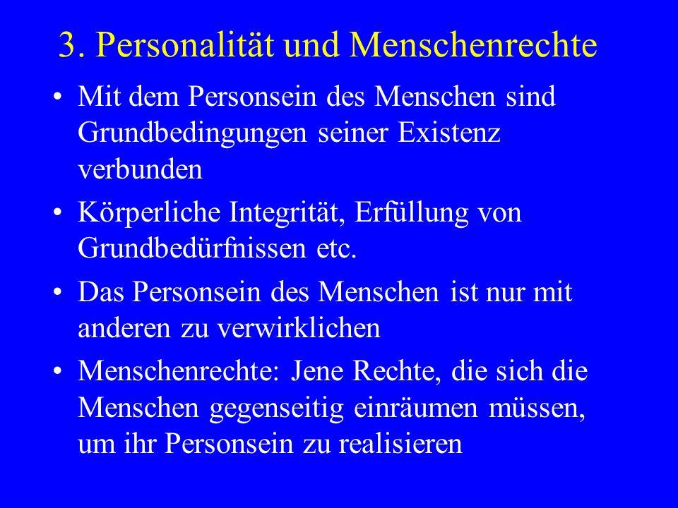 3. Personalität und Menschenrechte