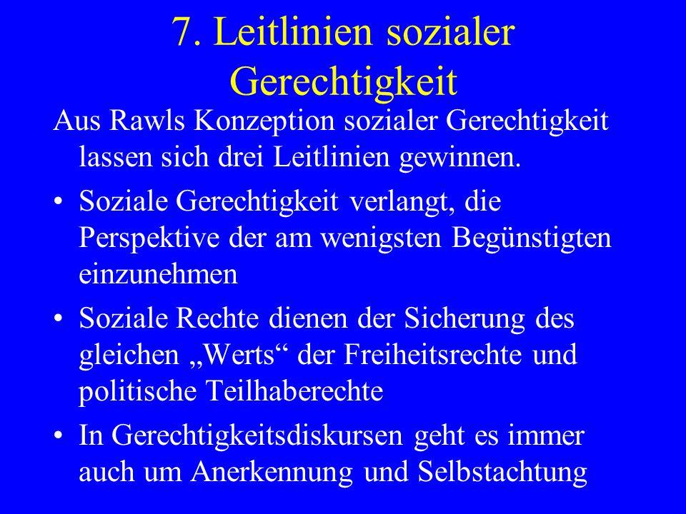7. Leitlinien sozialer Gerechtigkeit