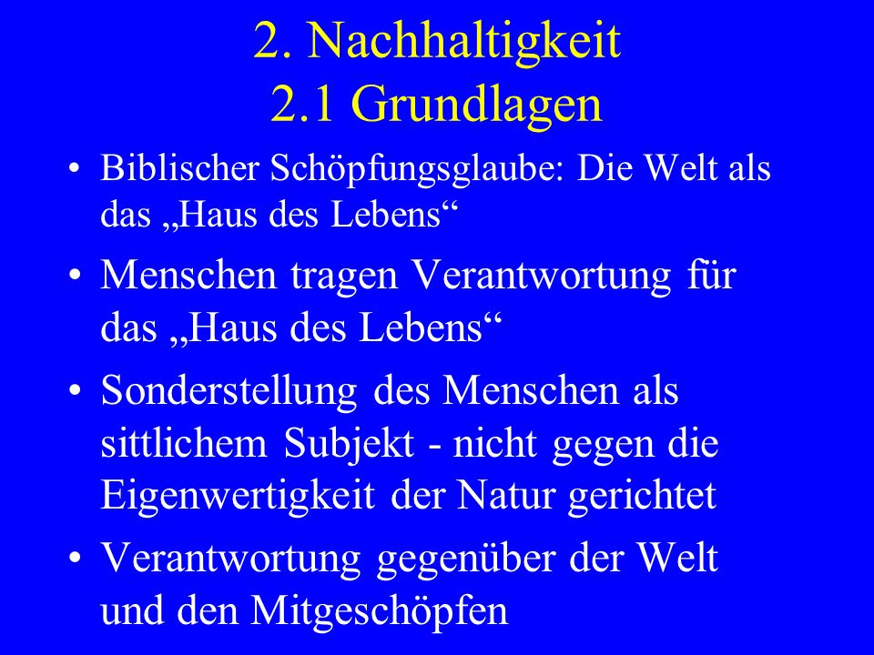2. Nachhaltigkeit 2.1 Grundlagen