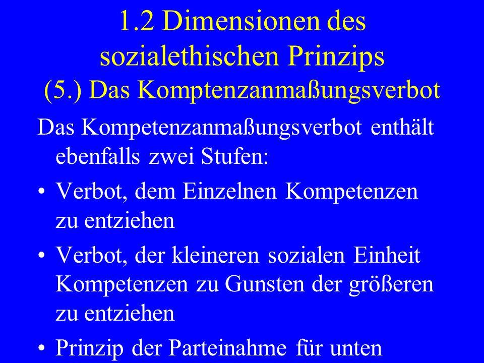 1. 2 Dimensionen des sozialethischen Prinzips (5