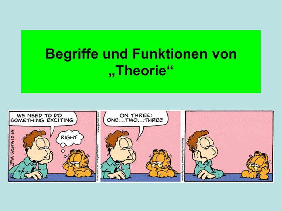 """Begriffe und Funktionen von """"Theorie"""