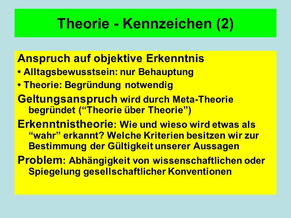 Theorie - Kennzeichen (2)