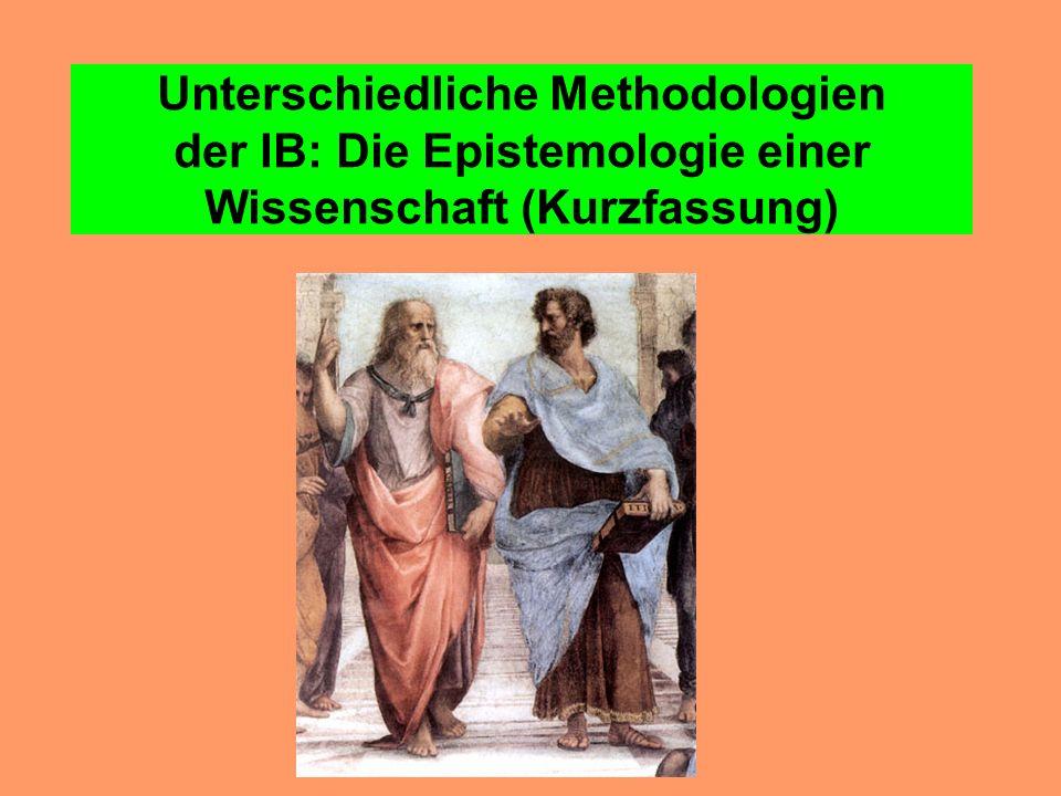 Unterschiedliche Methodologien der IB: Die Epistemologie einer Wissenschaft (Kurzfassung)