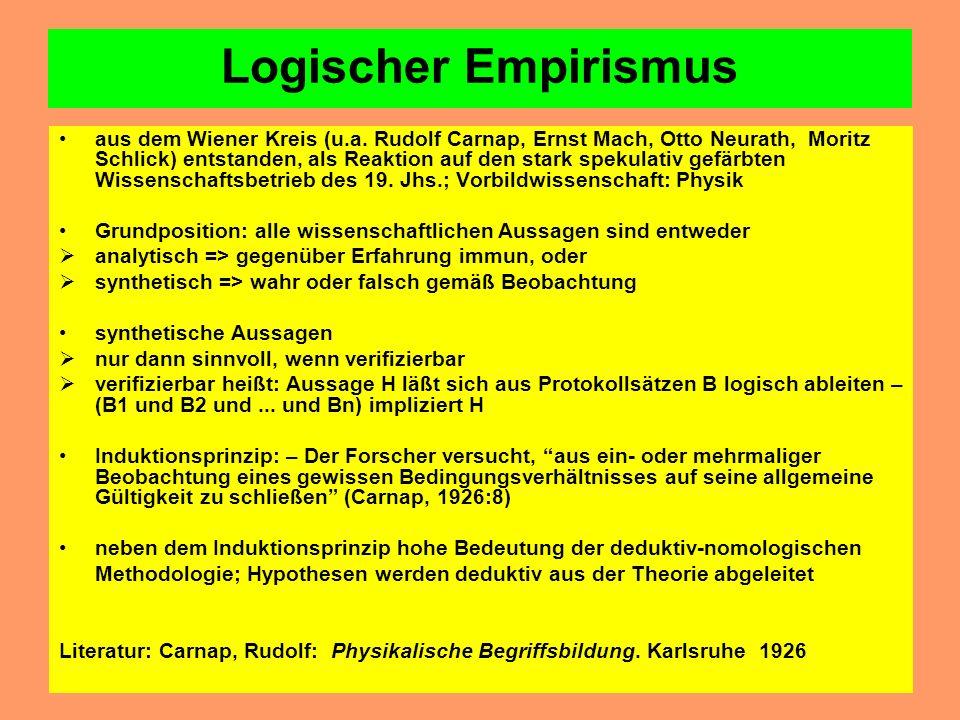 Logischer Empirismus