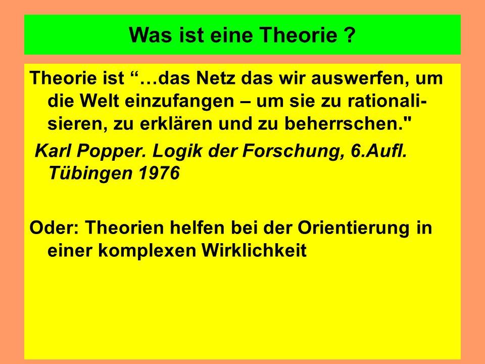 Was ist eine Theorie