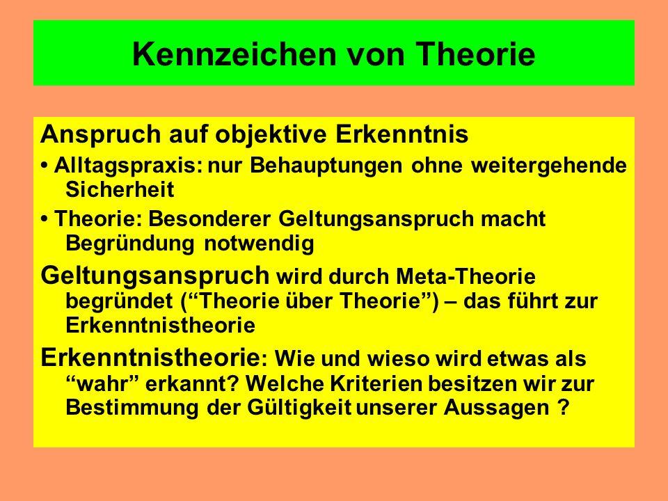 Kennzeichen von Theorie