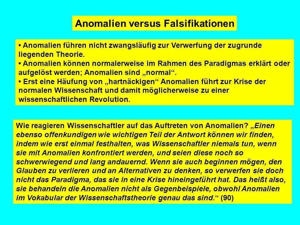 Anomalien versus Falsifikationen