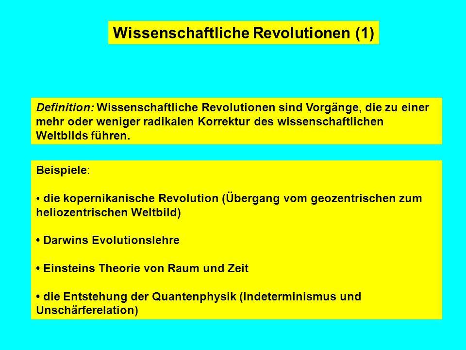 Wissenschaftliche Revolutionen (1)