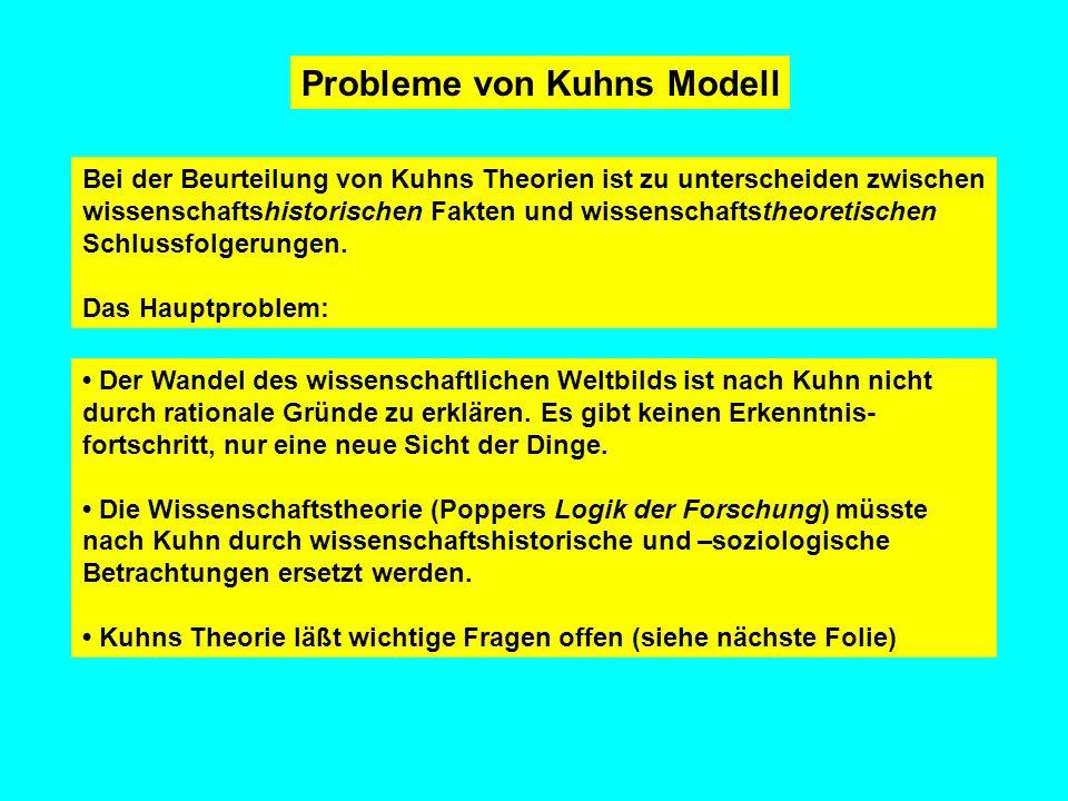 Probleme von Kuhns Modell