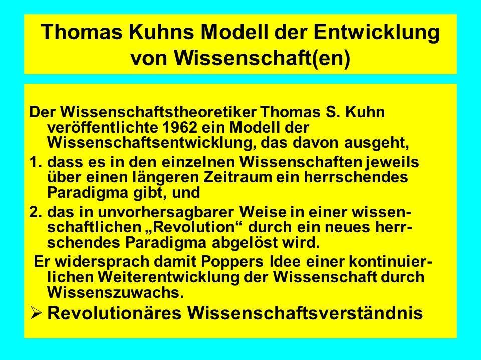Thomas Kuhns Modell der Entwicklung von Wissenschaft(en)
